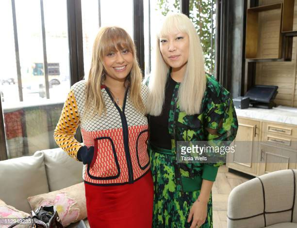 """Natalie Mark and Jen Woodward attend Norah Restaurant Hosts CFDA Fashion Trust """"A Toast To Stylists"""" Pre-Oscar Brunch Hosted By British Vogue's Tania..."""