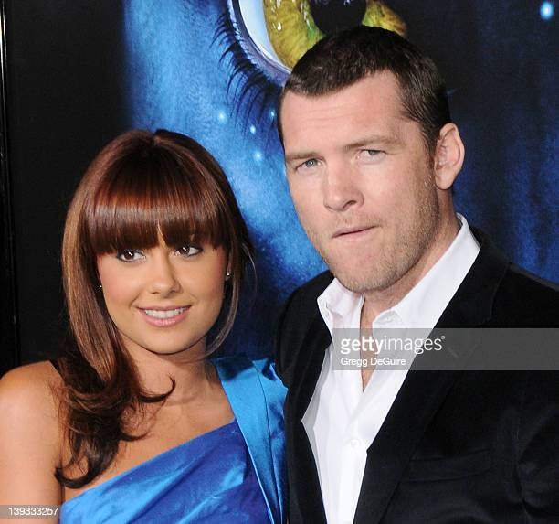 """Natalie Mark and Sam Worthington arrive at the """"Avatar"""" Los Angeles Premiere at the Grauman's Chinese Theater on December 16, 2009 in Hollywood,..."""