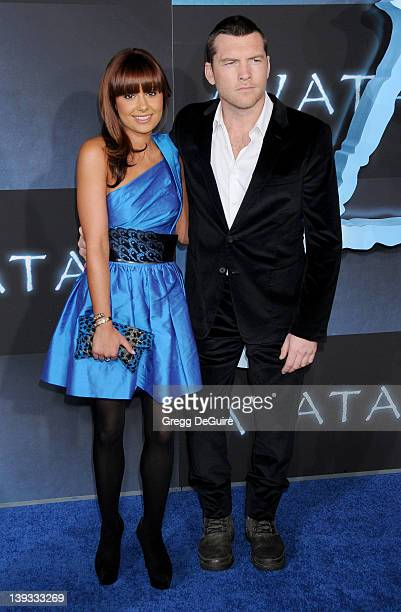 Natalie Mark and Sam Worthington arrive at the Avatar Los Angeles Premiere at the Grauman's Chinese Theater on December 16 2009 in Hollywood...