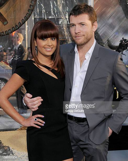 Natalie Mark and Sam Worthington arrive at the Los Angeles Premiere of Clash Of The Titans held at the Grauman's Chinese Theater on March 31 2010 in...