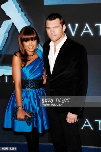 Natalie Mark and Sam Worthington attend The Los Angeles Premiere of AVATAR at Grauman's Chinese Theatre on December 16, 2009 in Hollywood, California.