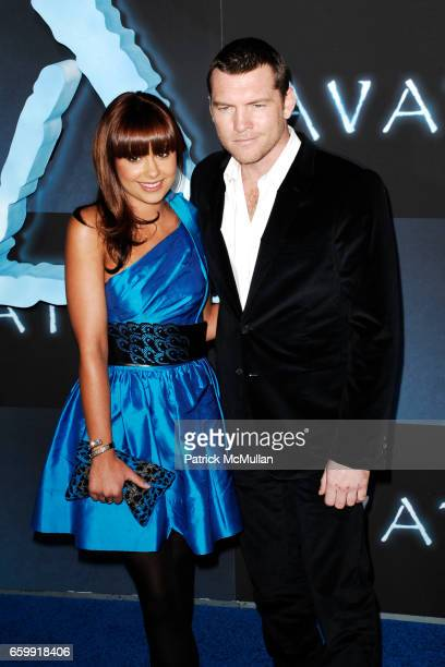 Natalie Mark and Sam Worthington attend The Los Angeles Premiere of AVATAR at Grauman's Chinese Theatre on December 16 2009 in Hollywood California