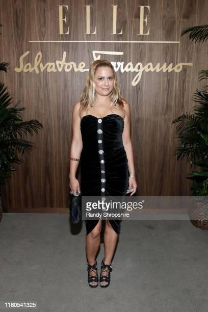 Natalie Mark attends ELLE & Ferragamo Hollywood Rising Celebration on October 11, 2019 in West Hollywood, California.