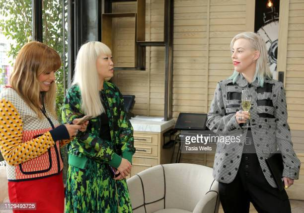 """Natalie Mark, Jen Woodward and Candice Lambert attend Norah Restaurant Hosts CFDA Fashion Trust """"A Toast To Stylists"""" Pre-Oscar Brunch Hosted By..."""