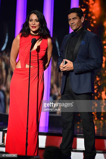 Natalie Martinez and Gabriel Porras onstage during the 2015 Billboard Latin Music Awards presented by State Farm on Telemundo at Bank United Center...