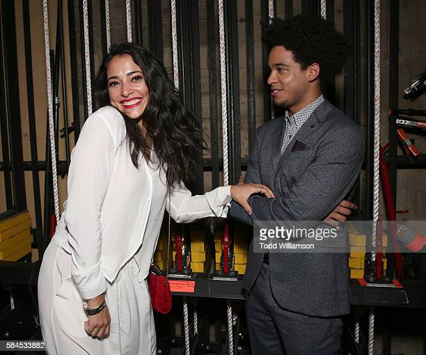 Natalie Martinez and Jorge Lendeborg Jr attend the after party for the Premiere Of IFC Films' The Land on July 28 2016 in Los Angeles California