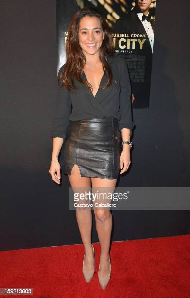 Natalie Martinez attends screening of Broken City at Regal South Beach on January 9 2013 in Miami Florida
