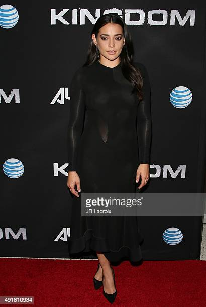 Natalie Martinez attends the premiere of DIRECTV's 'Kingdom' Season 2 at the SilverScreen Theater at the Pacific Design Center on October 6 2015 in...