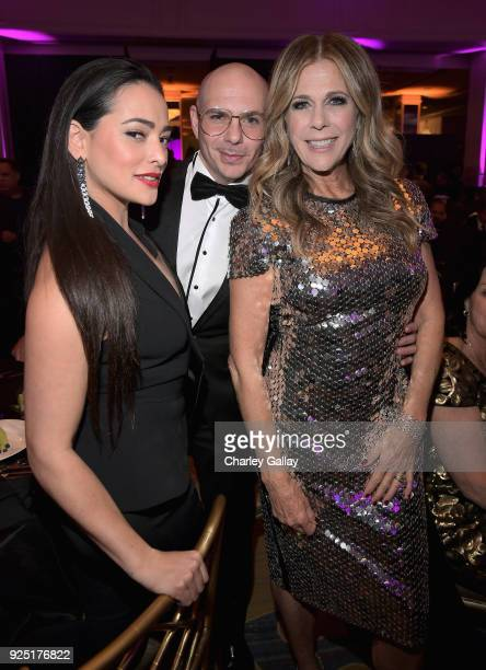 Natalie Martinez Pitbull and honorary chair Rita Wilson attend WCRF's An Unforgettable Evening Presented by Saks Fifth Avenue on February 27 2018 in...