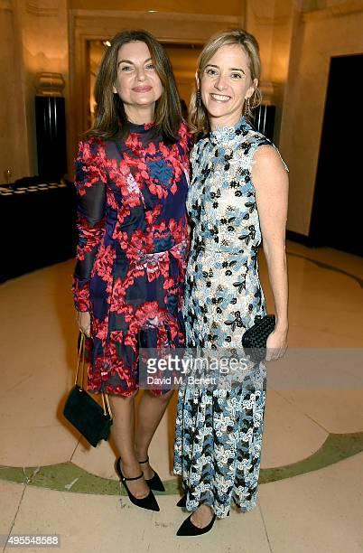 Natalie Massenet and Brooke Barzun attend the Harper's Bazaar Women of the Year Awards 2015 at Claridges Hotel on November 3 2015 in London England