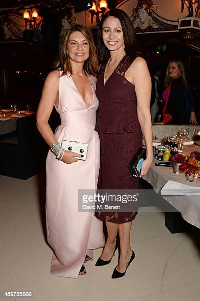 Natalie Massenet and Caroline Rush attend a drinks reception at the British Fashion Awards at the London Coliseum on December 1 2014 in London England