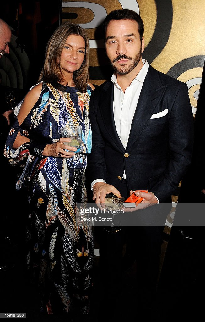Natalie Massenet (L) and Jeremy Piven attend a private dinner hosted by Tom Ford to celebrate his runway show during London Collections: MEN AW13 at Loulou's on January 9, 2013 in London, England.