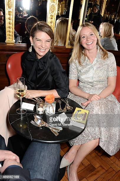 Natalie Massenet and Kate Reardon attend the GRACE debut and AW14 dinner at Cafe Royal on February 15 2014 in London England