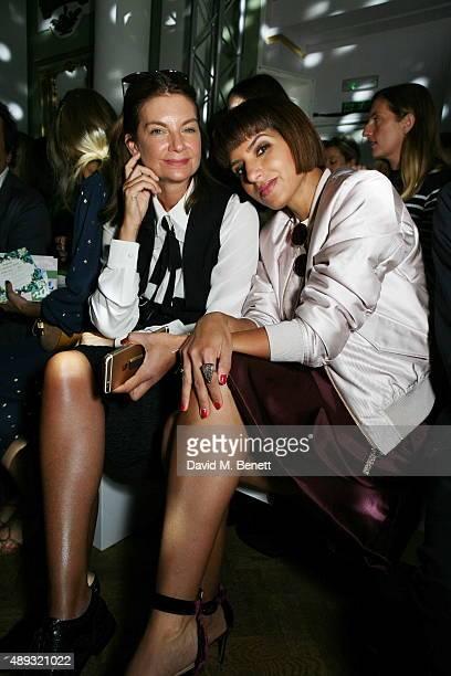 Natalie Massenet and Princess Deena Al Juhani Abdulaziz attends the Temperley London Spring/ Summer 2016 London Fashion Week Show at One Marylebone...