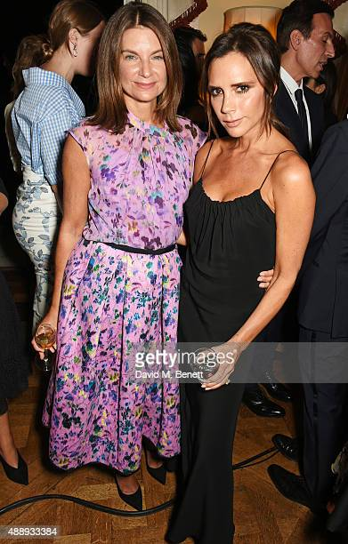 Natalie Massenet and Victoria Beckham attend the London Fashion Week party hosted by Ambassador Matthew Barzun and Mrs Brooke Brown Barzun with...