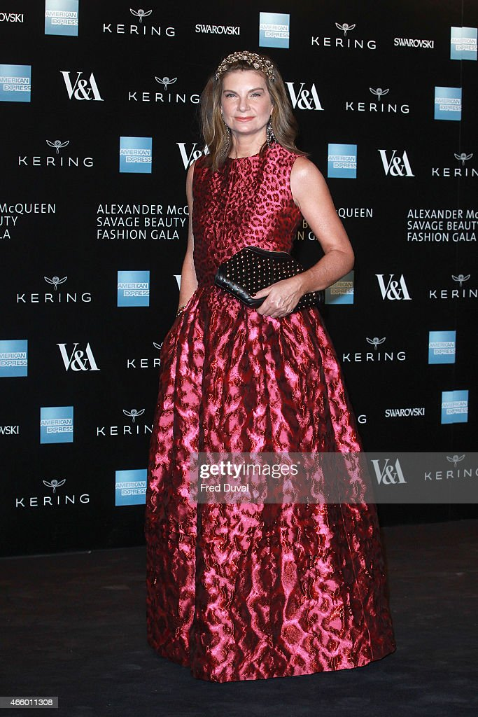 Natalie Massenet attends a private view for the 'Alexander McQueen: Savage Beauty' exhibition at Victoria & Albert Museum on March 12, 2015 in London, England.
