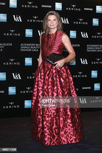 Natalie Massenet attends a private view for the 'Alexander McQueen Savage Beauty' exhibition at Victoria Albert Museum on March 12 2015 in London...