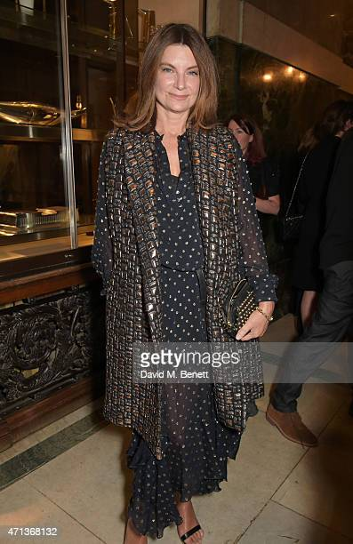 Natalie Massenet attends the LDNY show and WIE Award gala sponsored by Maserati at Goldsmith Hall on April 27 2015 in London England