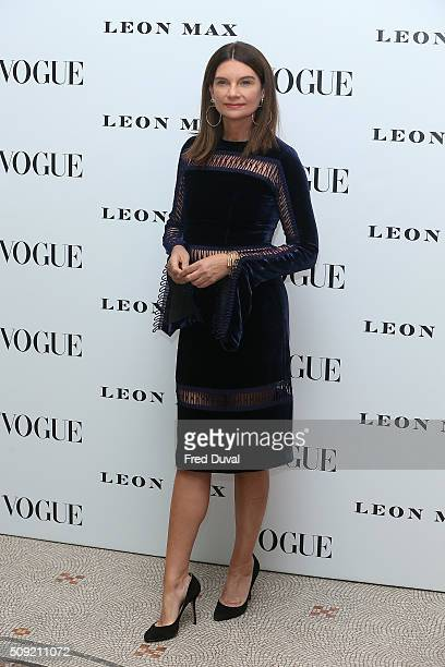 Natalie Massenet attends the opening of Vogue100 : A century of Style at National Portrait Gallery on February 9, 2016 in London, England.