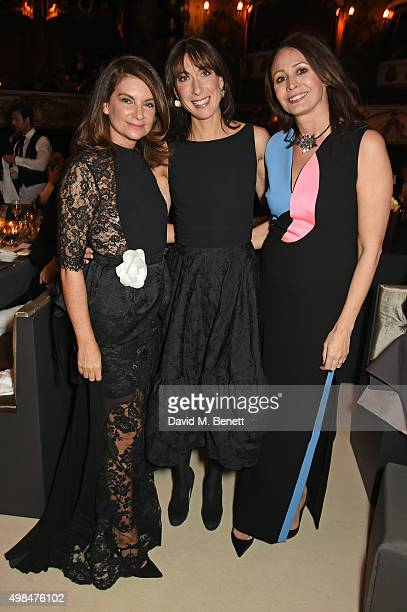 Natalie Massenet Samantha Cameron and Caroline Rush attend a drinks reception at the British Fashion Awards in partnership with Swarovski at the...
