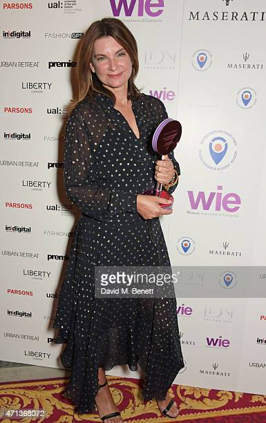 Natalie Massenet winner of the Enterprise Award attends the LDNY show and WIE Award gala sponsored by Maserati at Goldsmith Hall on April 27 2015 in...