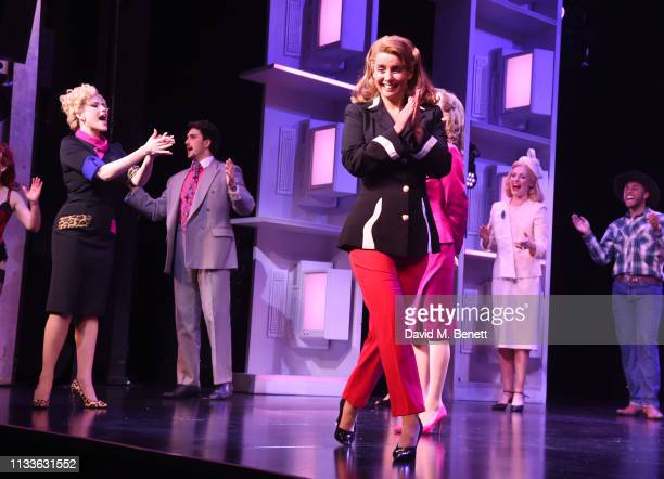 Natalie McQueen and Louise Redknapp take the curtain call as Louise Redknapp rejoins the cast of 9 To 5 The Musical at The Savoy Theatre on March 29...