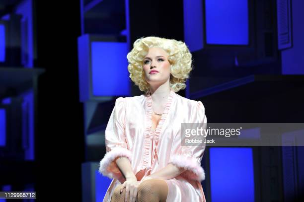 Natalie McQueen as Doralee Rhodes in 9 To 5 The Musical directed by Jeff Calhoun at The Savoy Theatre on February 14 2019 in London England