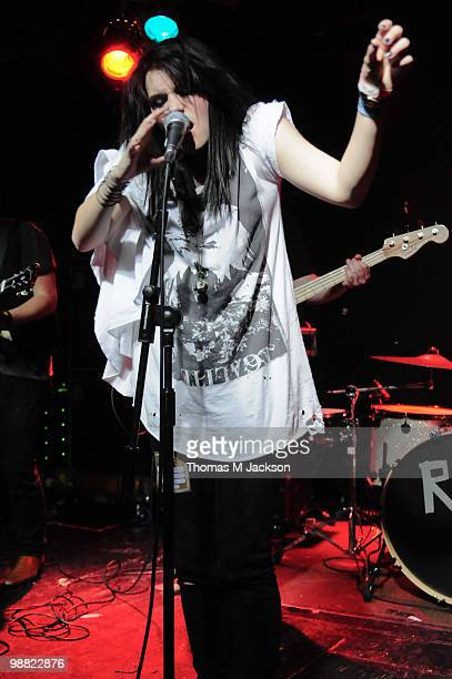 Natalie McQueen of The Wild performs on stage during 'Give It A Name Introduces' tour at O2 Academy on May 3 2010 in Newcastle upon Tyne England