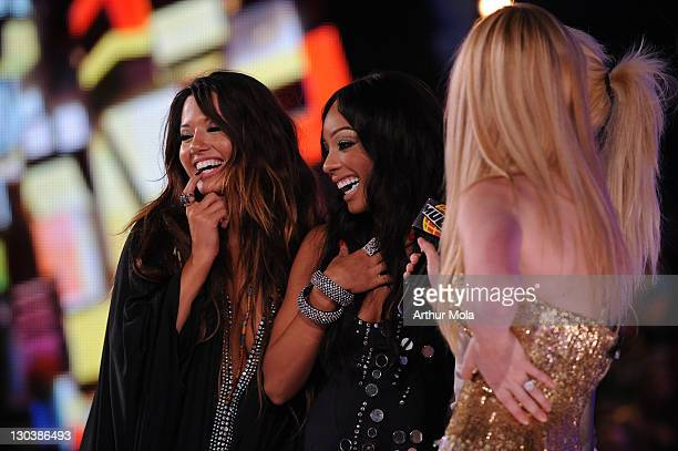 Natalie Mejia and Chrystina Sayers of Girlicious attend the 20th Annual MuchMusic Video Awards at the MuchMusic HQ on June 21, 2009 in Toronto,...