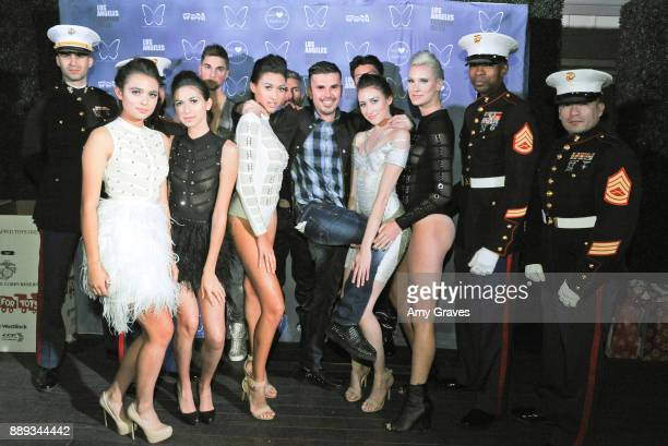 Natalie Mejia Lauren Umansky Chelsea Publico Erik Rosete Kaidan Darney and Kiera Smith pose for a photo with some members of the United States...