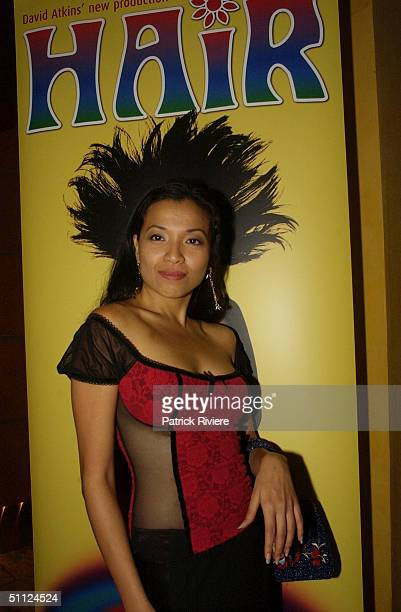 Natalie Mendoza at the opening night of the rock musical 'Hair' at the Capitol Theatre in Sydney