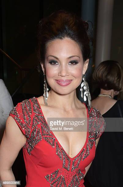 Natalie Mendoza attends The Olivier Awards after party at The Royal Opera House on April 12 2015 in London England