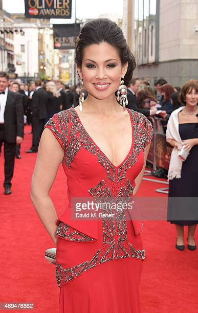 Natalie Mendoza attends The Olivier Awards at The Royal Opera House on April 12 2015 in London England