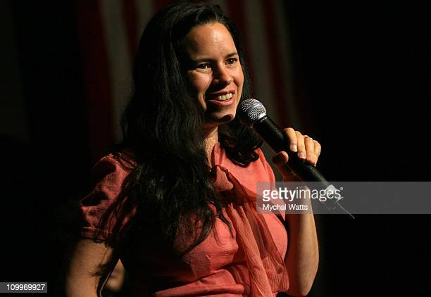 Natalie Merchant during MoveOnorg Presents Star Studded Event to Launch TV Ads to Defeat Bush at Hammerstein Ballroom in New York City New York...