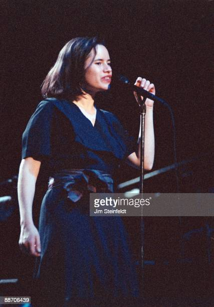 Natalie Merchant of Ten Thousand Maniacs performs at First Avenue nightclub in Minneapolis Minnesota in May 1986