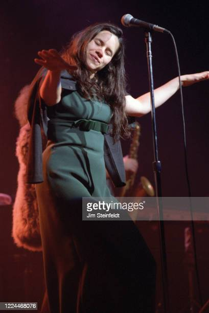 Natalie Merchant performs at the Universal Amphitheatre in Los Angeles California on December 13 1996