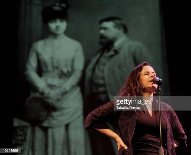 Natalie Merchant performs on stage at the Dome on May 30 2010 in Brighton England