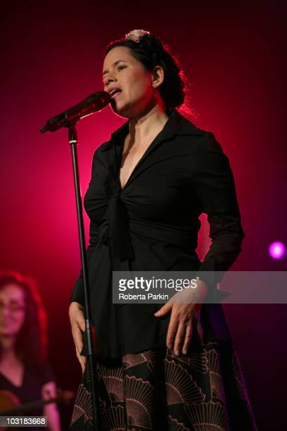 Natalie Merchant performs on stage during the third day of the CoOperative Cambridge Folk Festival at Cherry Hinton Hall on July 31 2010 in Cambridge...