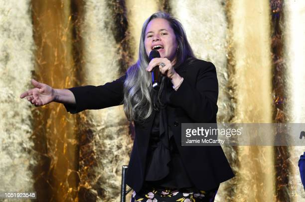 Natalie Merchant performs onstage during the 20th Anniversary Gala to celebrate Hudson River Park at Pier 60 on October 11 2018 in New York City