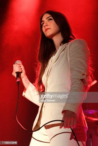 Natalie Mering aka Weyes Blood performs on stage at Islington Assembly Hall on April 25 2019 in London England