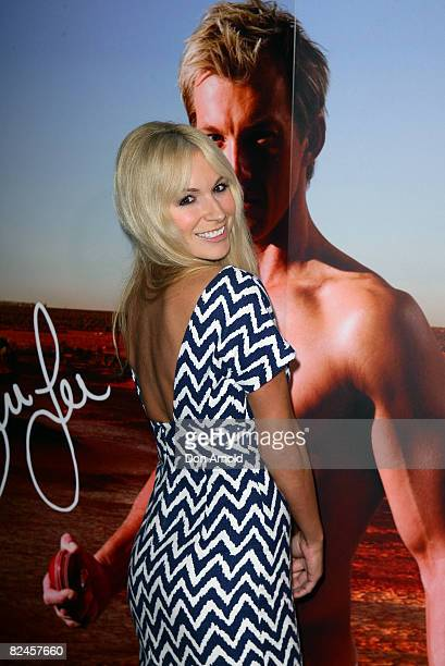 Natalie Michael poses during the official launch of the AceStar underwear range at Pink Salt on August 19, 2008 in Sydney, Australia.
