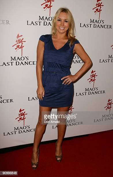 Natalie Michaels arrives for the premiere of 'Mao' Last Dancer' at the State Theatre on September 21, 2009 in Sydney, Australia.