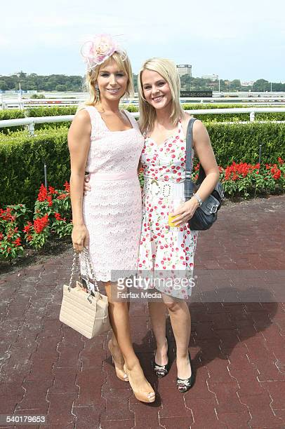 Natalie Michaels, left, and Natalie Murray at the David Jones Fashion on the Field Autumn racewear launch at Randwick Racecourse, Sydney, 21 March...