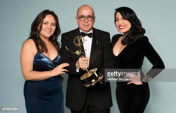 Natalie Monterosa Eduardo Suarez and Alejandra Oraa pose for portraits at The 44th Daytime Emmy Awards Portraits by The Artists Project Sponsored by...
