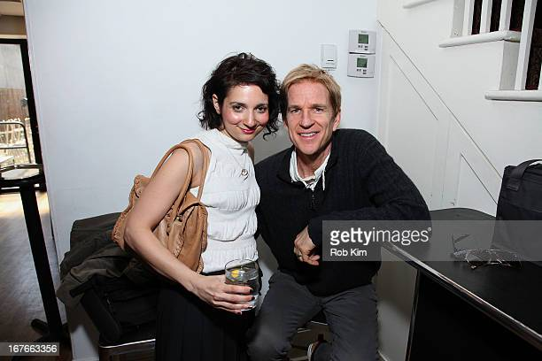 Natalie Mooallem and Matthew Modine attend Sloan Retrospective Cocktail Reception during the 2013 Tribeca Film Festival on April 27 2013 in New York...