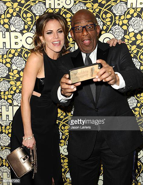 Natalie Morales and Al Roker attend HBO's post 2016 Golden Globe Awards party at Circa 55 Restaurant on January 10, 2016 in Los Angeles, California.