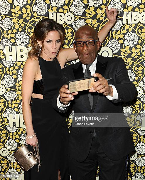 Natalie Morales and Al Roker attend HBO's post 2016 Golden Globe Awards party at Circa 55 Restaurant on January 10 2016 in Los Angeles California