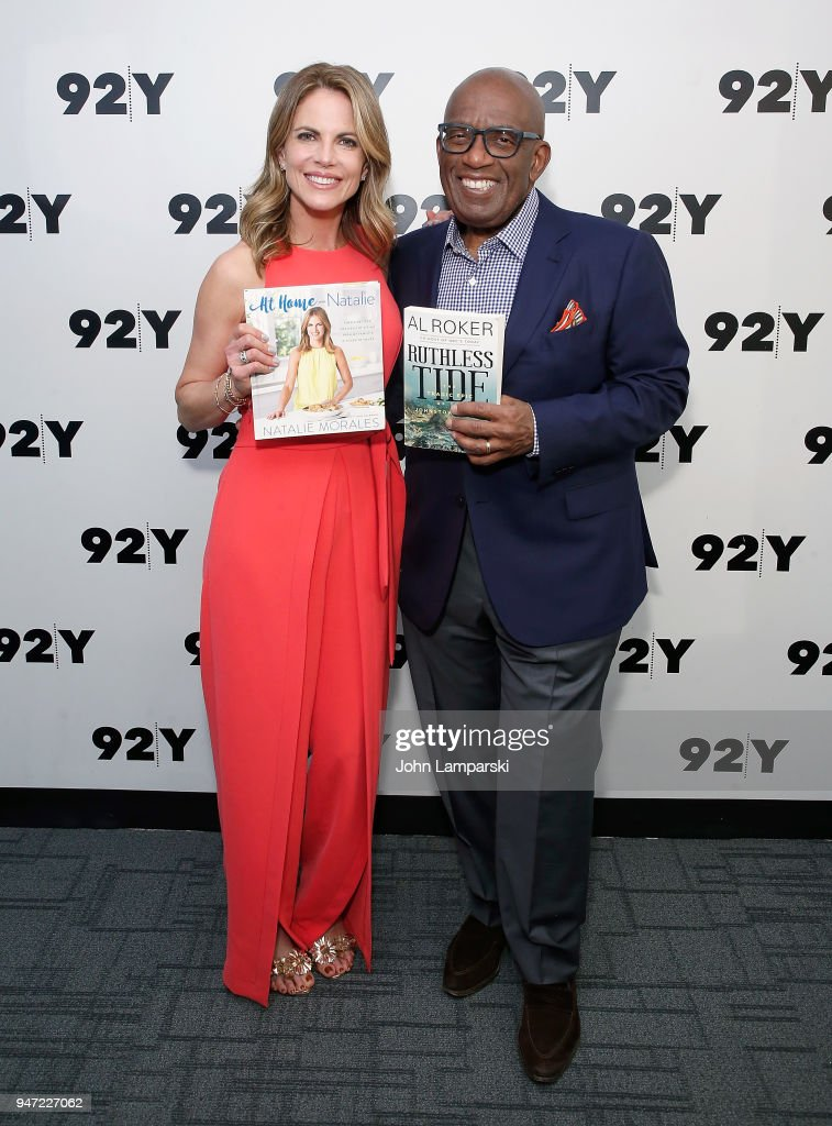 Natalie Morales and Al Roker in conversation at 92nd Street Y on April 16, 2018 in New York City.