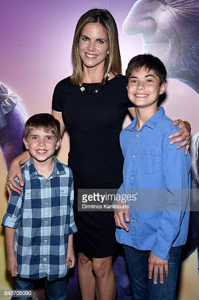 Natalie Morales and guests attend a Screening of The BFG hosted by Disney the Cinema Society at Village East Cinema on June 29 2016 in New York City