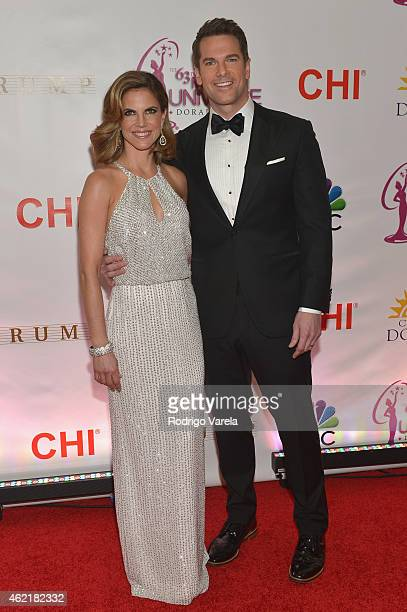 Natalie Morales and Thomas Roberts attend The 63rd Annual Miss Universe Pagean at Trump National Doral on January 25 2015 in Doral Florida